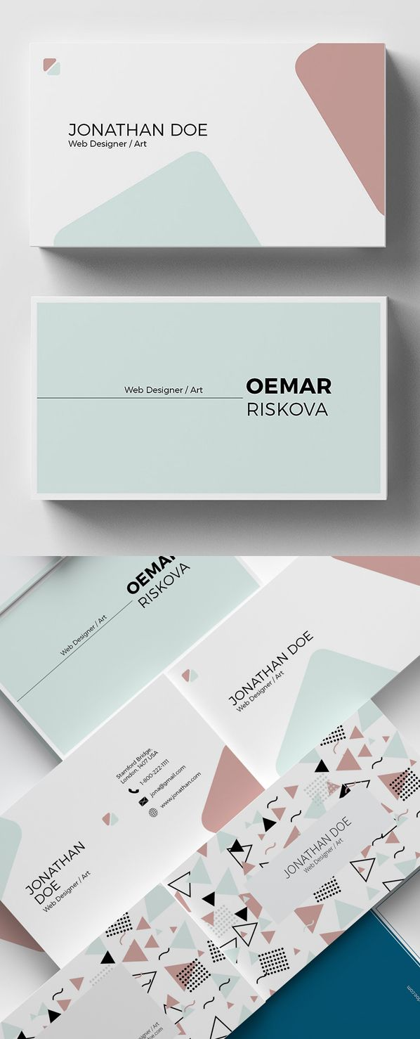 Easy and Clear Enterprise Card Templates (23 Print Design)