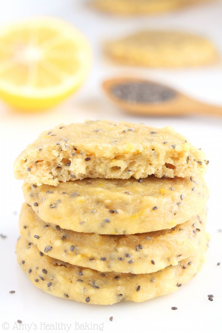 Lemon Chia Seed Protein Cookies -- these skinny, protein-packed low carb cookies don't taste healthy at all!