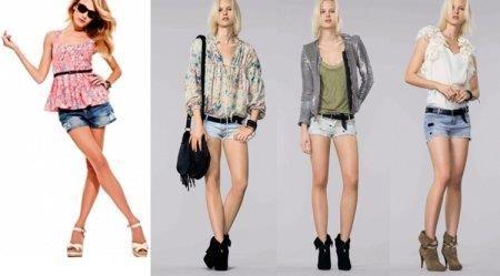 Модные шорты у девушек фото
