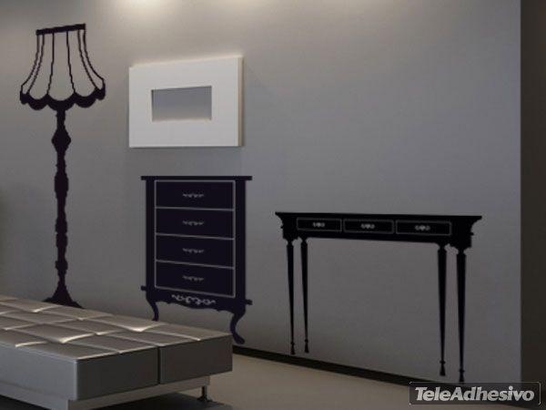 Vinilo decorativo mueble vintage vinilos muebles vintage for Pegatinas para muebles