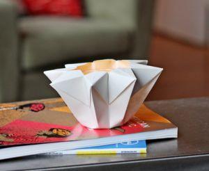 Cómo hacer una lampara de papel en forma de estrella