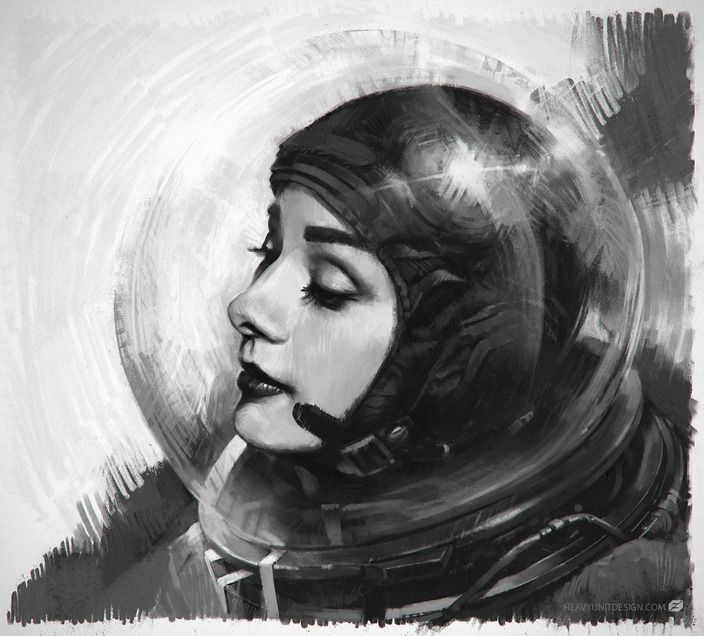 retro_futurism: Mike Hill - Astro Audrey. Follow us! - http://starshipseraphm.blogspot.com/p/home.html