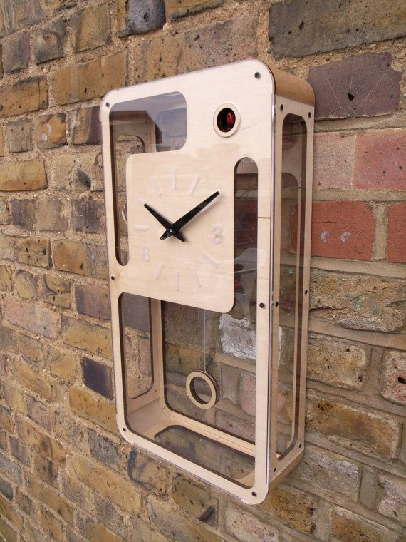 B83 modern cuckoo clock with moving bird by pedromealha on Etsy, £325.00