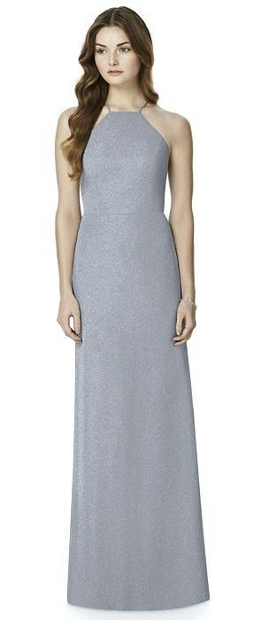d035bc42a26 After Six Shimmer Bridesmaid Dress 6762LS