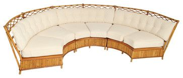Ficks Reed Curved Sofa Tropical Sofas Sofas Pinterest