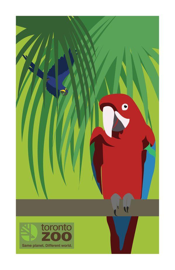 Toronto Zoo Poster by Nicky Clarizio, via Behance
