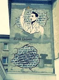 """""""Basically, the most important thing is life. And when there is life, freedom is the most important thing. And then one sacrifices one's life for freedom..."""" - Marek Edelman. To mark the 70th anniversary of The Warsaw Ghetto Uprising, a mural of the last commander of the uprising, Marek Edelman, have been erected in Warsaw."""