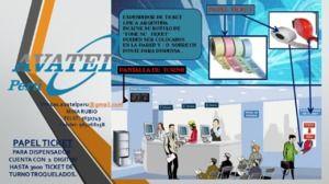 Rollos de tiques de 02 dígitos para dispensador metálico avatel peru sac - Lima - avisos y anuncios clasificados gratis en Perú