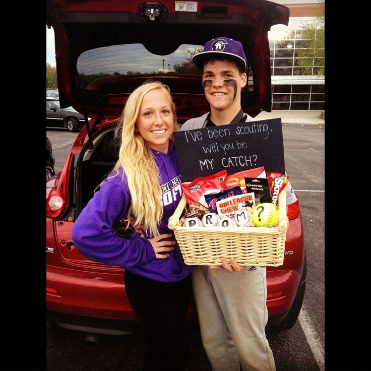 He said yes #prom #baseball #softball