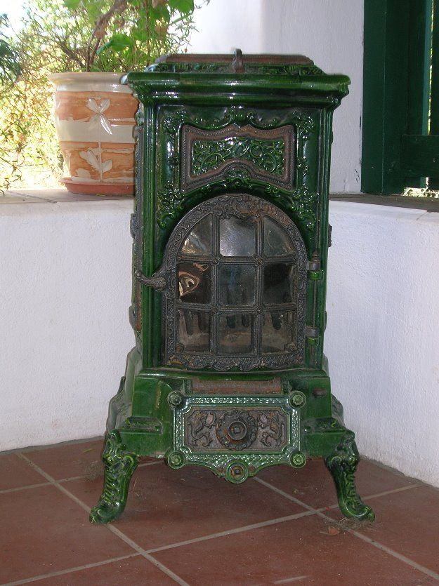 'Irlandaises' in the style of Louis XV. Circa: late / early A beautiful  ornate enameled cast iron wood burning parlor stove. - 193 Best Images About Wood Stoves On Pinterest Antiques, Ovens