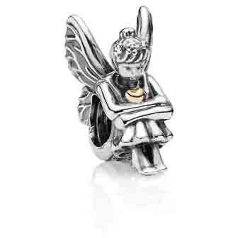 "Pixie - ""Pixies"" and fairies are known to represent beauty and femininity, with their wings being the symbol of freedom and liberation.  Add a touch of playful innocence and magic to your fairy tale  with sterling silver and 14K gold."