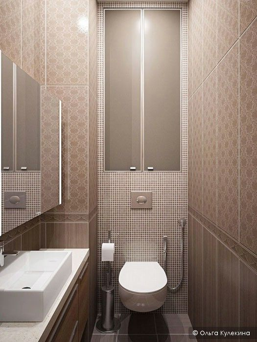 Web Image Gallery The modern elements in this long narrow bathroom makes the design work