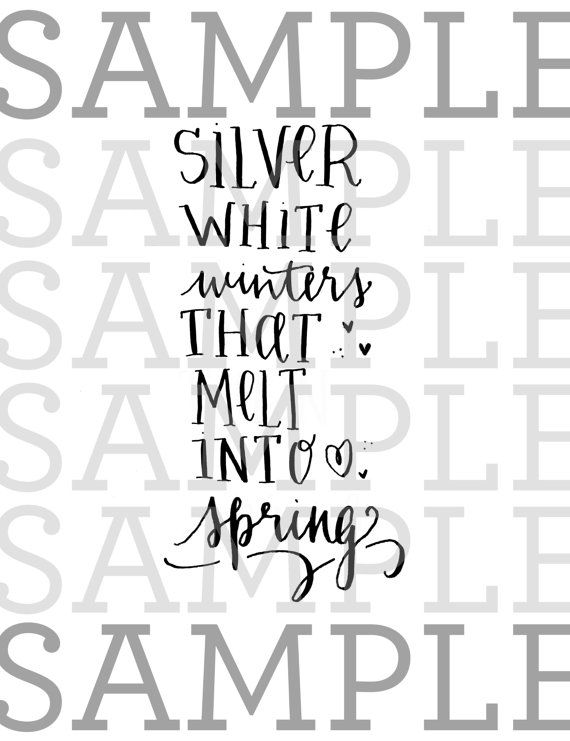 Printable The Sound of Music movie quote My Favorite Things