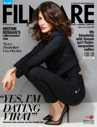 Anushka Sharma Styles for the Filmfare India Magazine March 2015 Issue