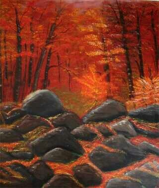 autumn forest made by Tirza Atsma- Hoornstra