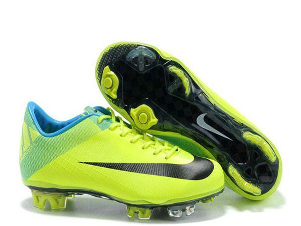 chaussure de football nike mercurial vapor superfly iii firm ground pour homme vert noir nike