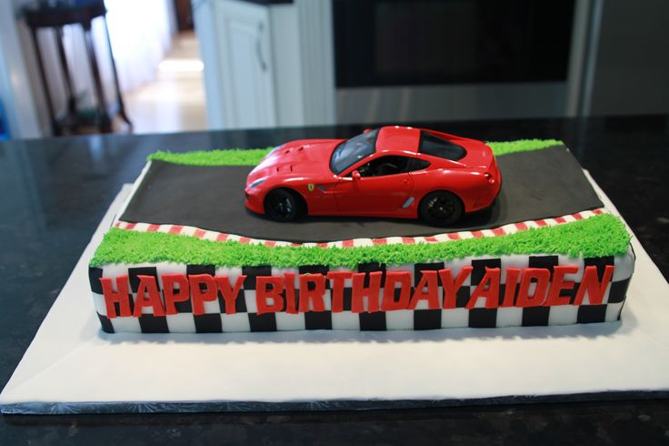 Ferrari Sports Car Cake Grandma Cakes Pinterest Cars ...