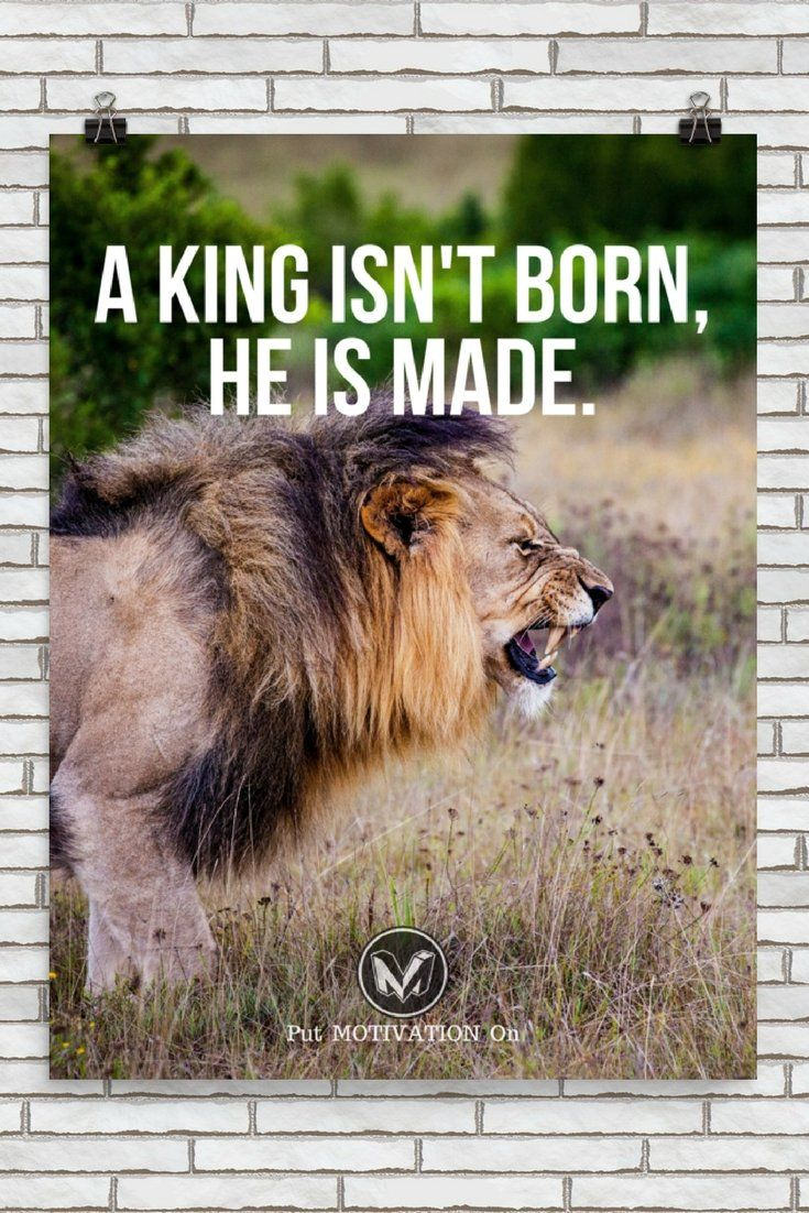 A KING ISN'T BORN | Poster – PutMotivationOn Follow all our motivational and inspirational quotes. Follow the link to Get our Motivational and Inspirational Apparel and Home Décor. #quote #quotes #qotd #quoteoftheday #motivation #inspiredaily #inspiration https://www.musclesaurus.com