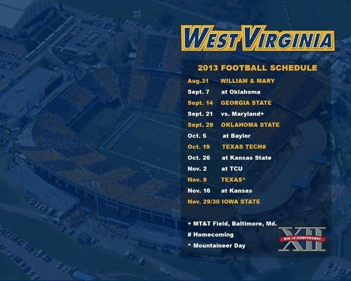 2013 schedule!