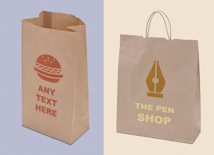 Photorealistic Paper Bag Mockups