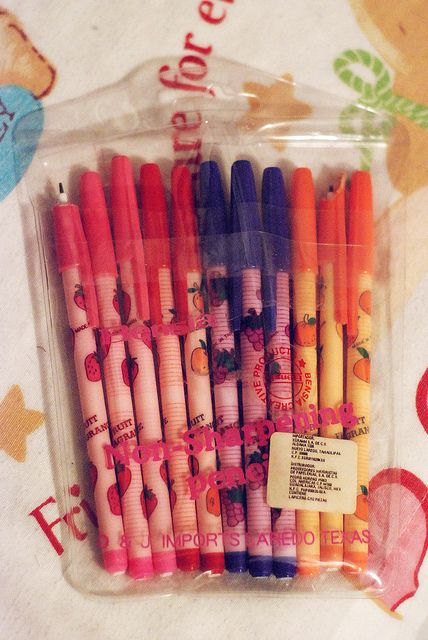 fruit smelling pencils