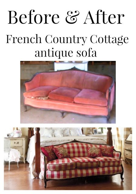 FRENCH COUNTRY COTTAGE: From trash to treasure~ Charles Faudree inspired settee sofa design furniture bedroom home style