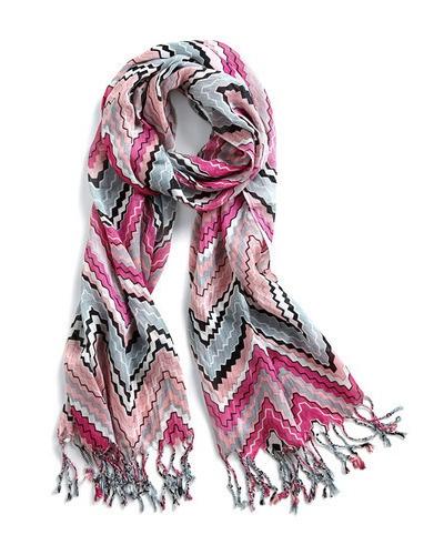 fringe zigzagg scarf