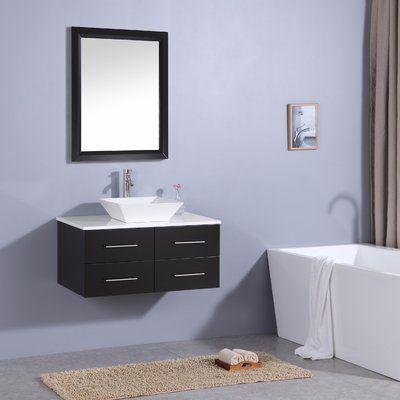Orren Ellis Havel 36 Wall Mounted Single Bathroom Vanity Set Wayfair