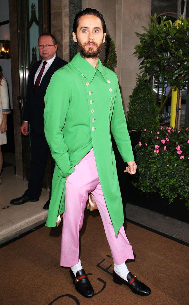 Jared Leto in Gucci's Spring/Summer 2017 menswear