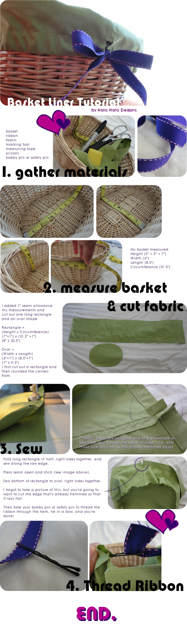 [TUTORIAL] Old Bedsheet to Basket Liner - HOME SWEET HOME