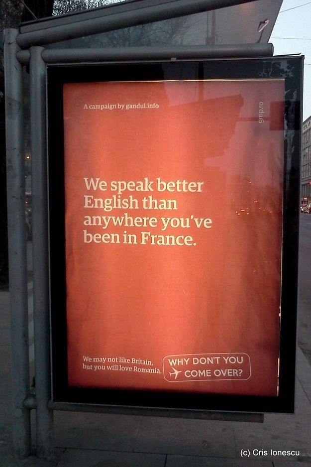 "Romanian Response Campaign to ""You wouldn't like it here"" British immigration campaign http://www.buzzfeed.com/copyranter/brilliant-award-winning-romania-tourism-campaign"