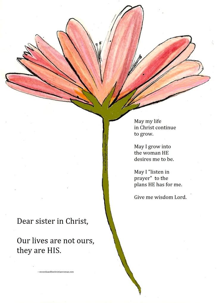 Dear Sister in Christ...