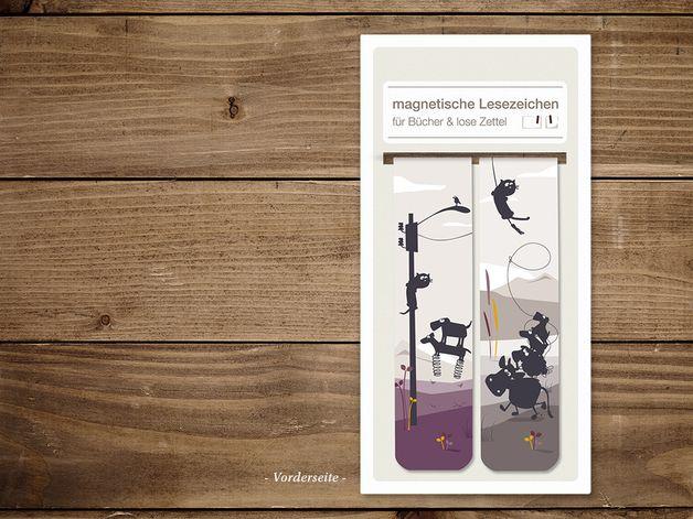 Weiteres - Magnetische Lesezeichen - Set 6 - ein Designerstück von catsonappletrees bei DaWanda