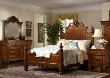 Victorian Manor Panel Bed | Traditional Bedroom Furniture Set by Liberty Furniture