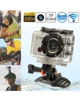 Full HD 1080P WDV5000 Wi-Fi DV Sports Camera with Waterproof Case & Remote Controller, 5.0 Mega Pixels, Support TF Card, 120 Degree Wide Viewing Angle, 30m Waterproof