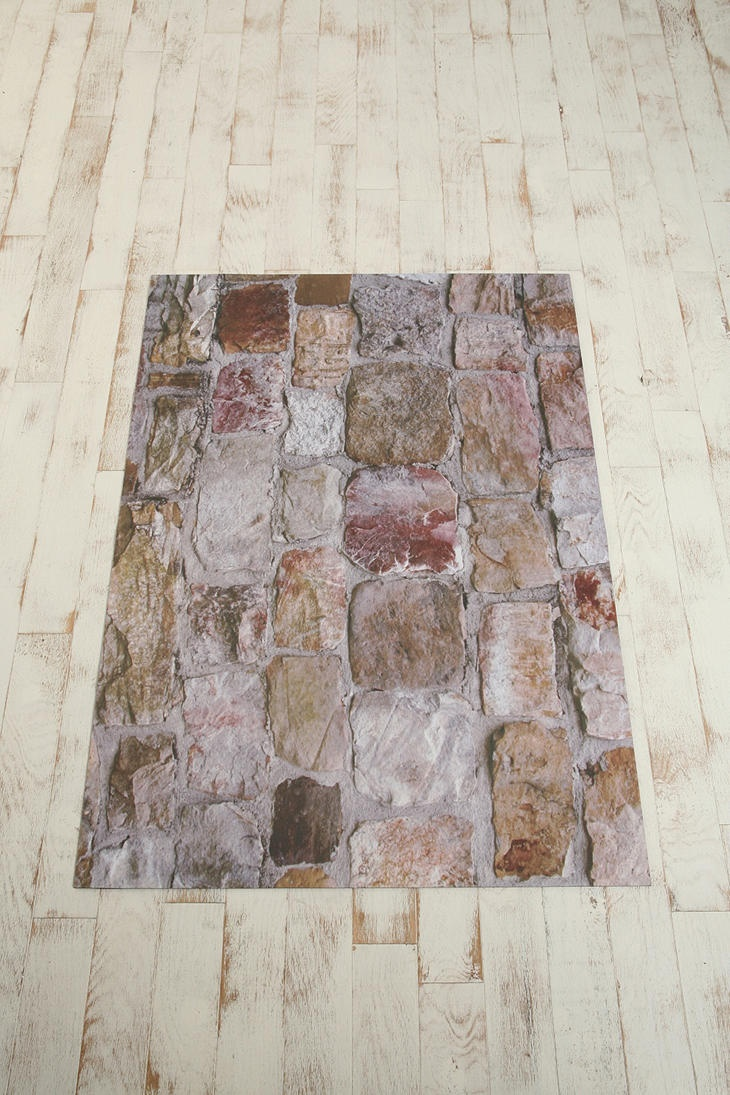 Delightful Trompe Lu0027Oeil Floor Mat   Rock Wall Great Ideas