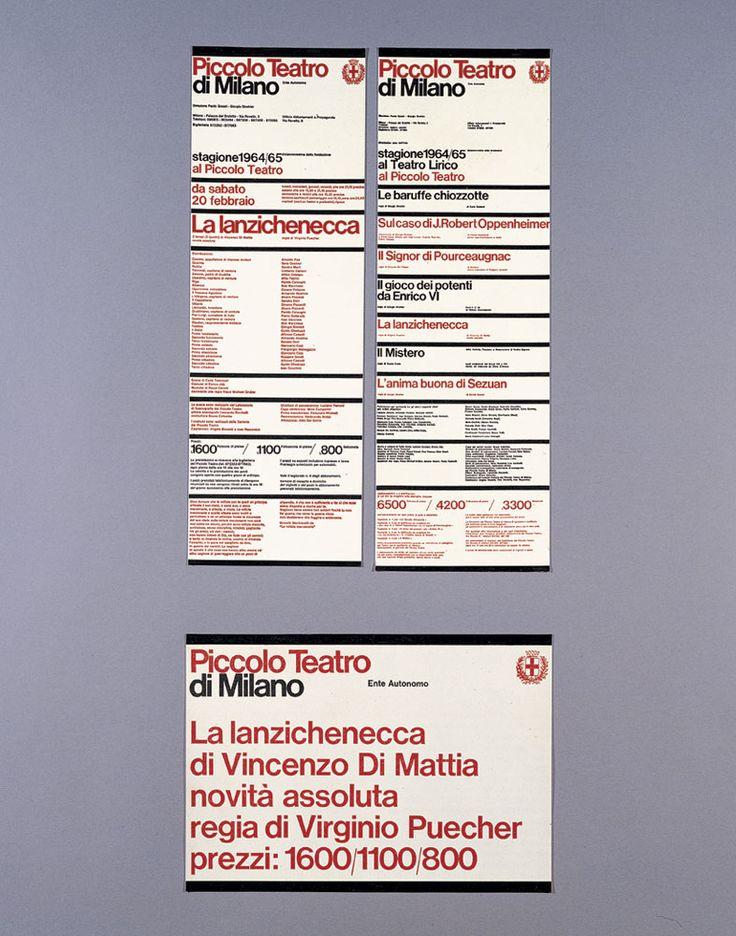 Афиши Piccolo Teatro, Милан, 1964