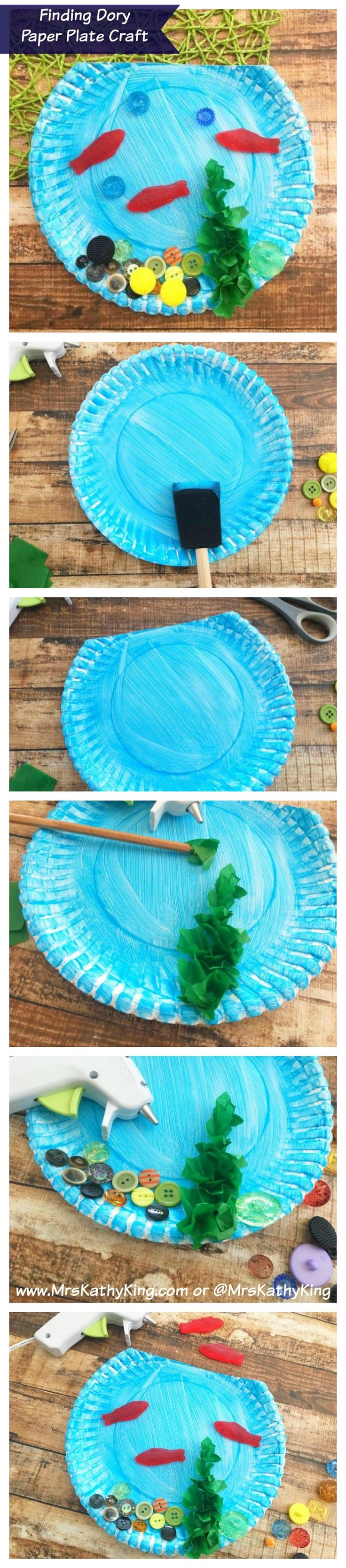 Finding Dory Birthday Party Idea  Finding Dory Paper Plate