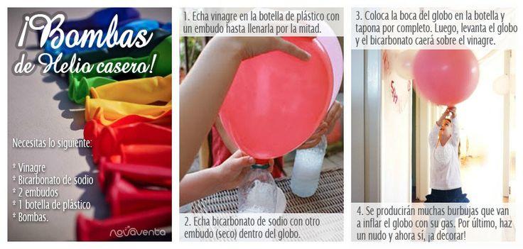 Para tus fiestas, aprende cómo hacer bombas de helio caseras. ¡Una actividad divertida para compartir con tus hijos!