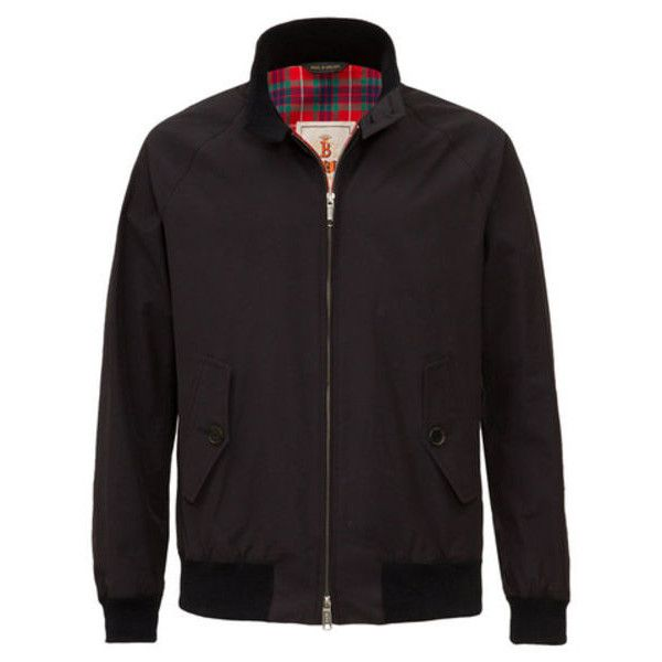 Baracuta G9 Modern Classic Harrington Jacket (7,725 MXN) ❤ liked on Polyvore featuring men's fashion, men's clothing, men's outerwear, men's jackets, g star mens jacket, mens sports jacket and mens sport jackets