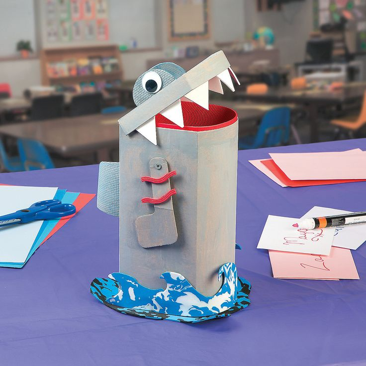 Valentine Shark Treat Box Idea - OrientalTrading.com