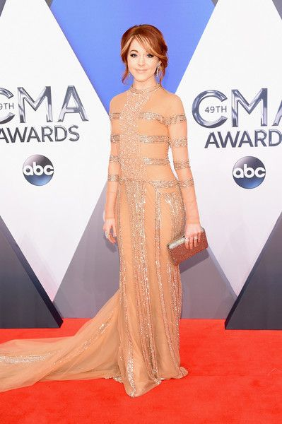 Violinist Lindsey Stirling attends the 49th annual CMA Awards at the Bridgestone Arena on November 4, 2015 in Nashville, Tennessee.