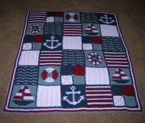 Gratis haakpatroon nautische deken