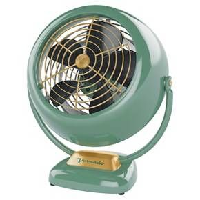 Cutest desktop fan at Target (switch out ceiling fan for cute light and add this to the dresser).