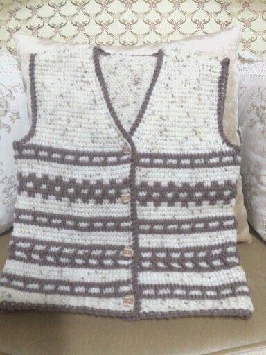 Marcel Afghan Knitting Pattern : 78+ images about haak en brei on Pinterest Vests, Free ...