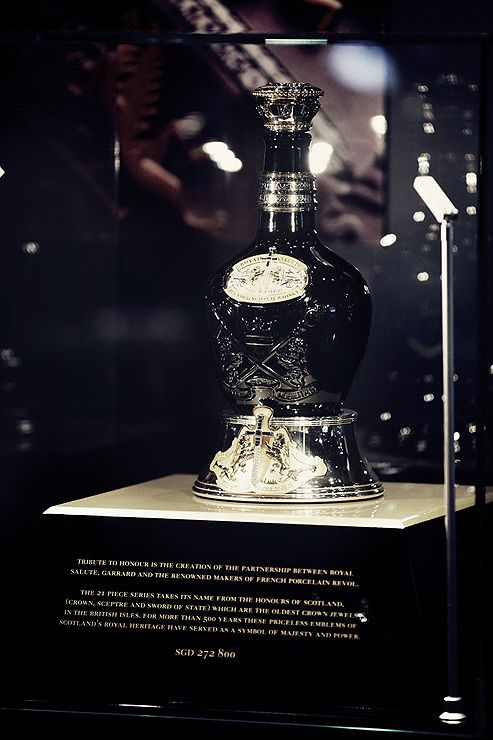 "For whisky connoisseurs - Royal Salute ""Tribute to Honour"" encrusted with over 400 black & white diamonds valued at US $200,000"