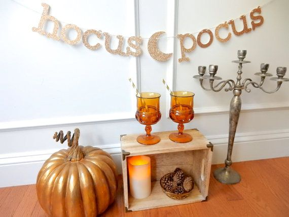 Halloween Banner Halloween Decor Hocus Pocus by LunaWishesStudio