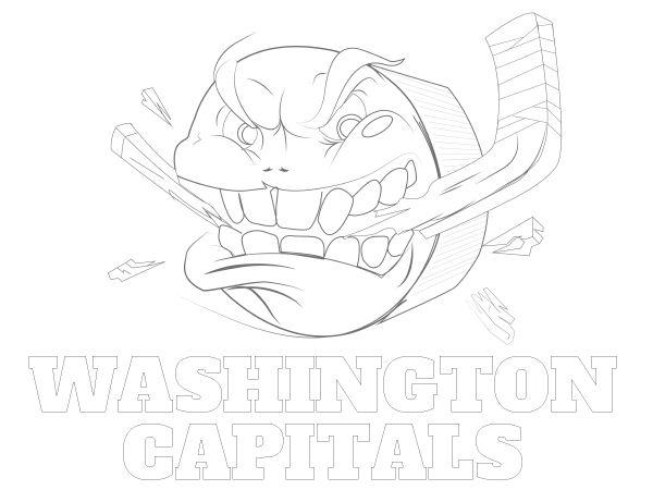 Printable Washington Capitals Coloring Sheet