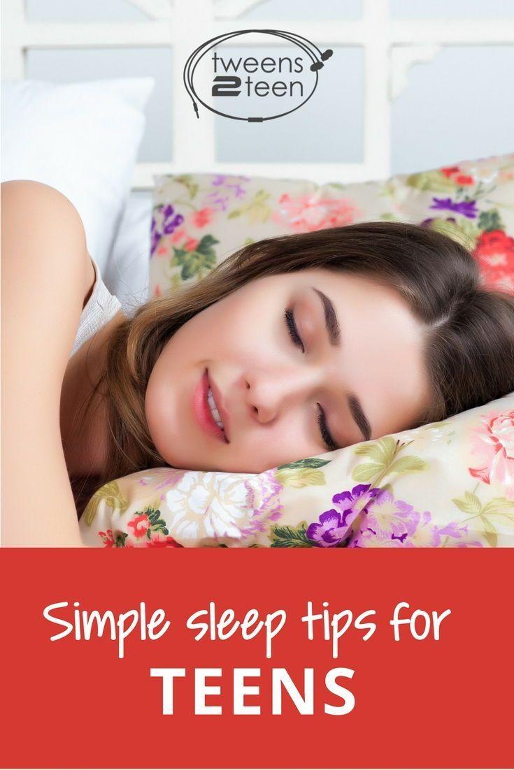 How to help teenagers develop better sleep habits.