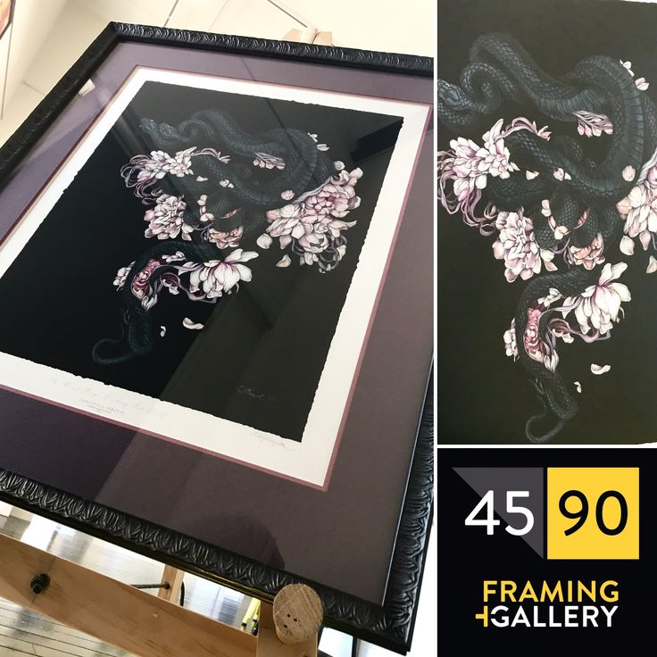 Limited edition print by Christina Mrozik  custom framed by 45 90 Framing in an ornate frame